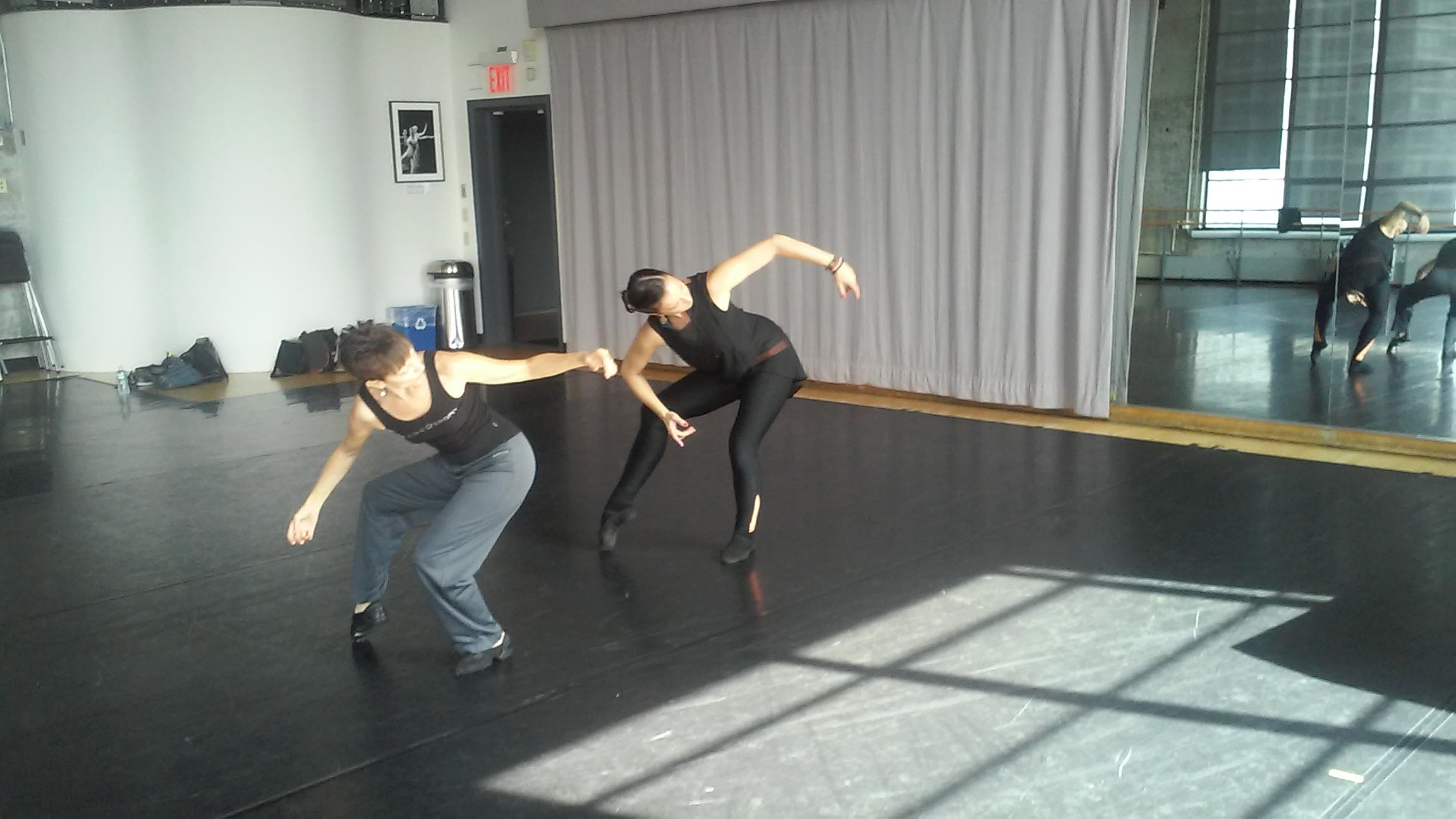 Mitzi and Claire at the Baryshnikov Arts Center