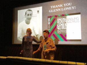"Glenn Lonetybeing honored by Debra Levine at ""Behind the Lens"""